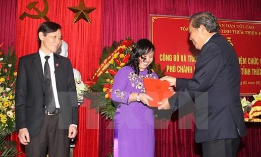 Trao quyết định bổ nhiệm Chánh án TAND tỉnh Thừa Thiên-Huế