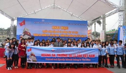 Triển lãm về Hoàng Sa, Trường Sa tại Thái Bình - 2