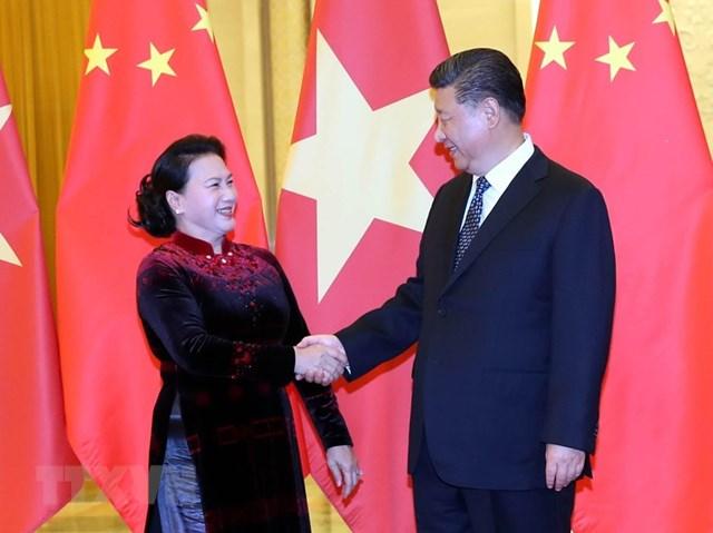 [ẢNH] Chủ tịch Quốc hội hội kiến với các nhà lãnh đạo Trung Quốc