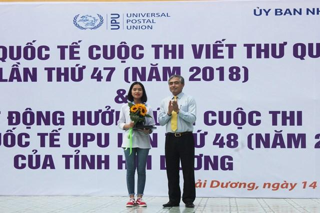 Học sinh Hải Dương đoạt giải Ba cuộc thi viết thư quốc tế UPU lần thứ 47