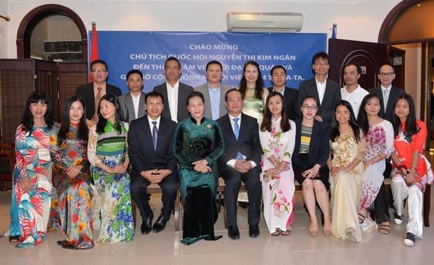 Chủ tịch Quốc hội làm việc với Đại sứ quán Việt Nam tại Qatar - 2