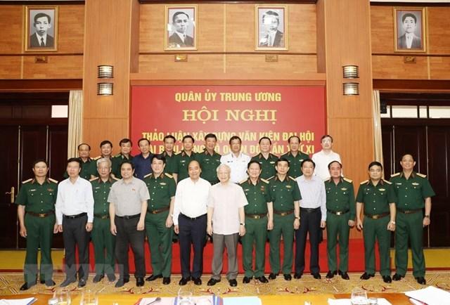 Cho ý kiến về dự thảo văn kiện Đại hội Đảng bộ Quân đội lần thứ XI - 1