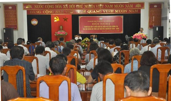 Quảng Bình: Góp ý Dự thảo Báo cáo chính trị Đại hội Đảng bộ tỉnh