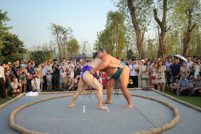 Hai đại võ sĩ sumo nổi tiếng Nhật Bản bất ngờ xuất hiện tại Việt Nam - 3