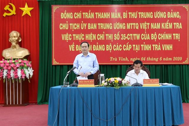 BẢN TIN MẶT TRẬN: Chủ tịch Trần Thanh Mẫn làm việc với Ban Thường vụ Tỉnh ủy Trà Vinh
