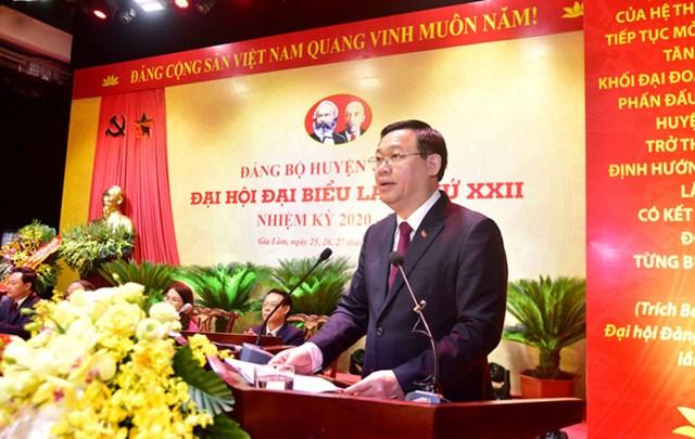 Tập trung xây dựng huyện Gia Lâm sớm trở thành quận giàu đẹp, văn minh