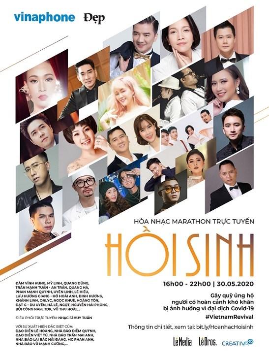 Hoà nhạc trực tuyến thiện nguyện với 30 nghệ sĩ hàng đầu Việt Nam