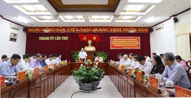BẢN TIN MẶT TRẬN: Chủ tịch Trần Thanh Mẫn làm việc với Ban Thường vụ Thành ủy Cần Thơ