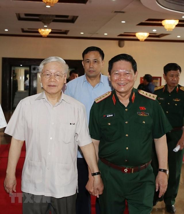 [ẢNH] Tổng Bí thư, Chủ tịch nước chỉ đạo tại hội nghị của Quân ủy TW - 1