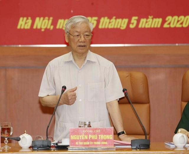 [ẢNH] Tổng Bí thư, Chủ tịch nước chỉ đạo tại hội nghị của Quân ủy TW - 4