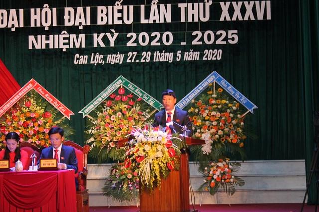 Hà Tĩnh: Ông Nguyễn Như Dũng tái đắc cử Bí thư Huyện ủy Can Lộc