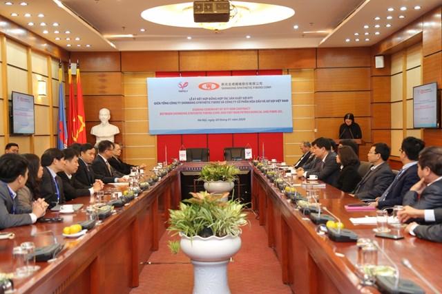 Lễ ký hợp đồng hợp tác sản xuất sợi giữa VNPOLY VÀ SSFC (Đài Loan) - 2