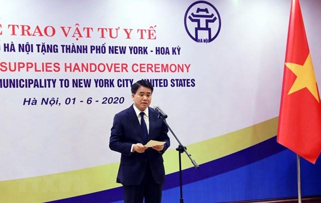 [ẢNH] Hà Nội tặng New York 150.000 chiếc khẩu trang phòng Covid-19 - 1