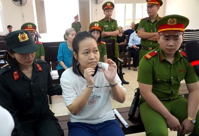 Bị cáo Phạm Thị Thiên Hà bị tuyên phạt tử hình. Ảnh: Dân Trí.