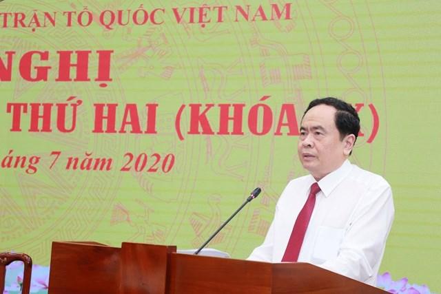 Chủ tịch Trần Thanh Mẫn phát biểu khai mạc Hội nghị. Ảnh: Quang Vinh.