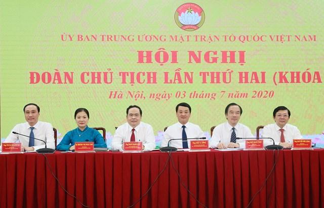 Ban Thường trực UBTƯ MTTQ Việt Nam chủ trì Hội nghị. Ảnh: Quang Vinh.