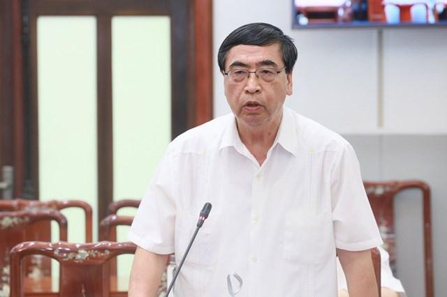 Ông Nguyễn Phú Bình phát biểu. Ảnh: Quang Vinh.
