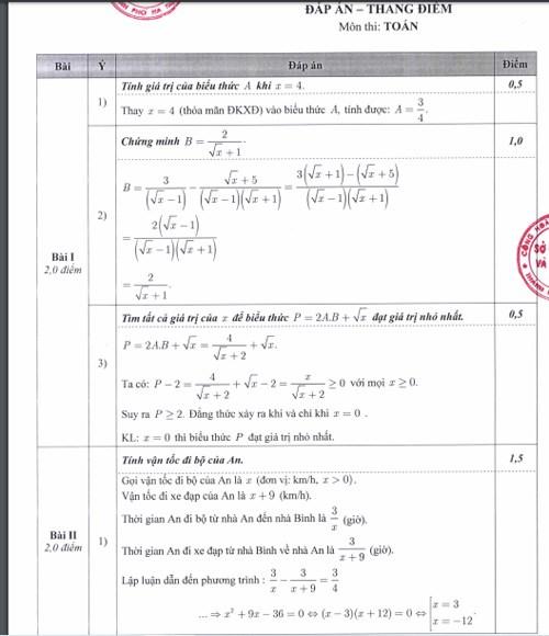 Hà Nội công bố đáp án, thang điểm các bài thi tuyển sinh vào lớp 10 - Ảnh 1