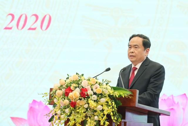 Chủ tịch Trần Thanh Mẫn phát biểu khai mạc Đại hội.