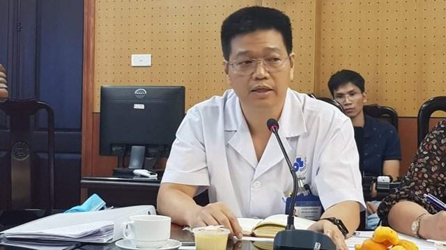 Đại diện Bệnh viện Da liễu Trung ương trao đổi với báo chí trưa 18/9.