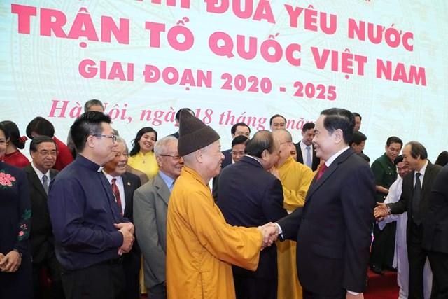 Chủ tịch Trần Thanh Mẫn và các đại biểu dự Đại hội.