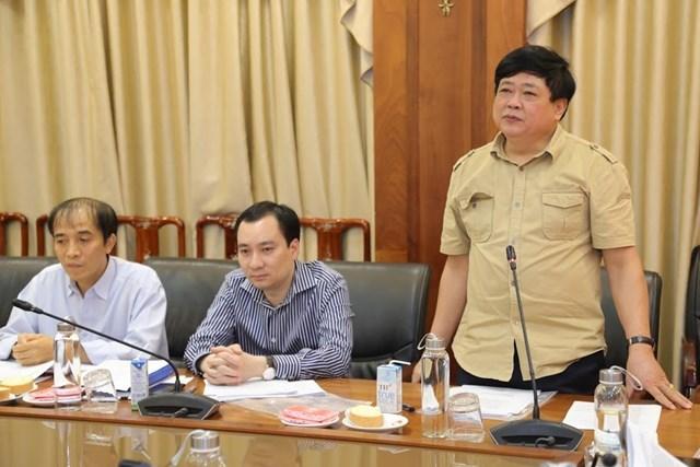 Ông Nguyễn Thế Kỷ, Tổng Giám đốc Đài Tiếng nói Việt Nam phát biểu tại cuộc họp. Ảnh: Quang Vinh.