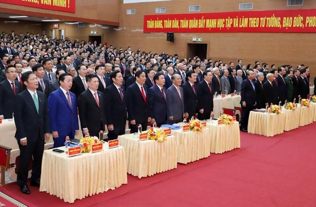 Nhiều lãnh đạo, nguyên lãnh đạo Đảng, Nhà nước tham dự lễ khai mạcĐại hội đại biểu Đảng bộ Nghệ An lần thứ XIX, nhiệm kỳ 2020-2025.