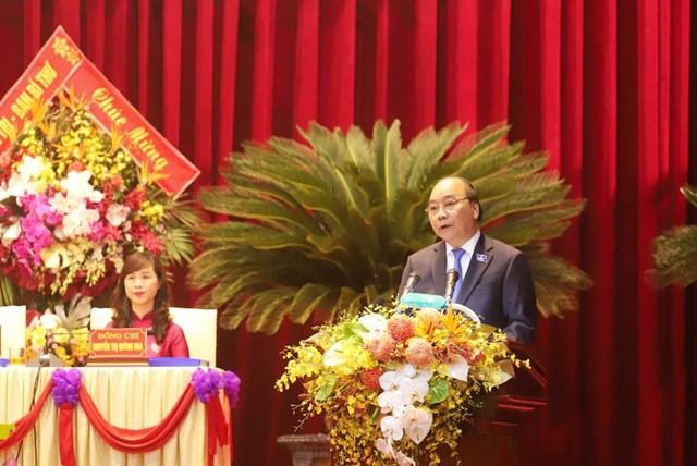 Thủ tướng Nguyễn Xuân Phúc phát biểu chỉ đạo tại Đại hội.