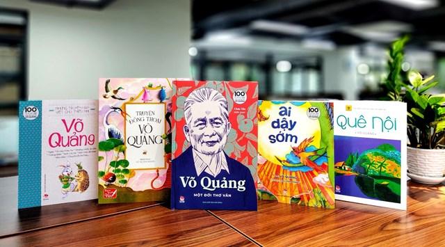 5 tựa sách kỉ niệm 100 năm ngày sinh của nhà văn Võ Quảng.