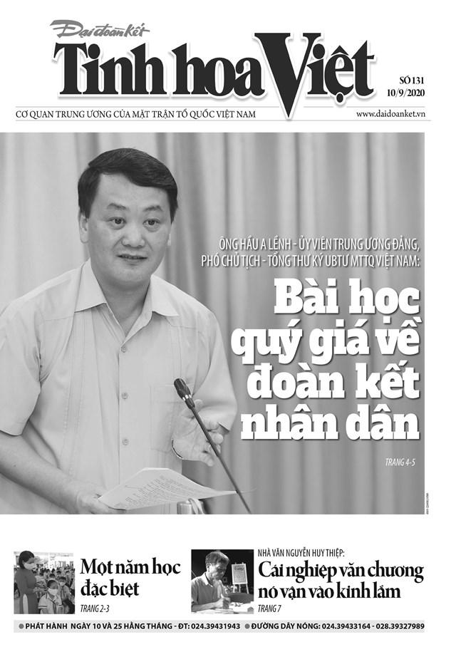 Trang bìa Tinh hoa Việt số 131.