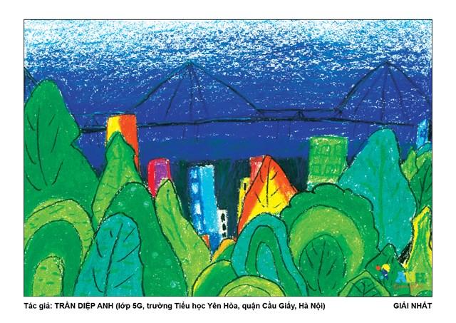 Bất ngờ với loạt tranh về 'Thành phố xanh tương lai' - Ảnh 1