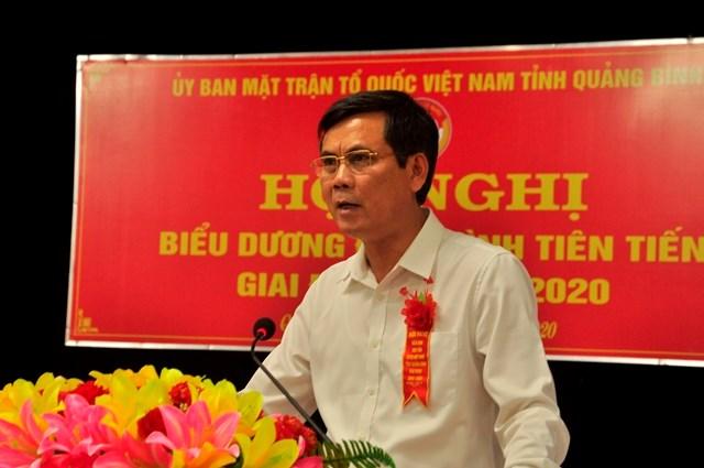 Ông Trần Thắng, Phó Bí thư Thường trực Tỉnh uỷ Quảng Bình phát biểu tại hội nghị.