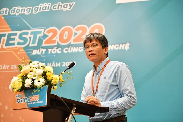 Ông Phạm Quốc Thắng, PGĐ Quỹ Tấm lòng Việtphát biểu tại Lễ phát động