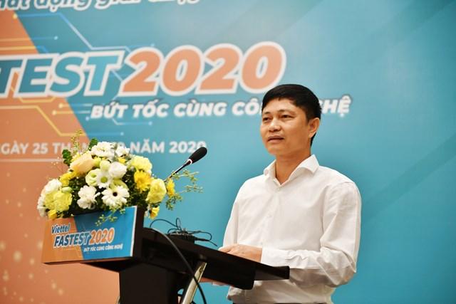 Ông Nguyễn Thành Nhương, P. TGĐ Viettel Telecom phát biểu tại Lễ phát động