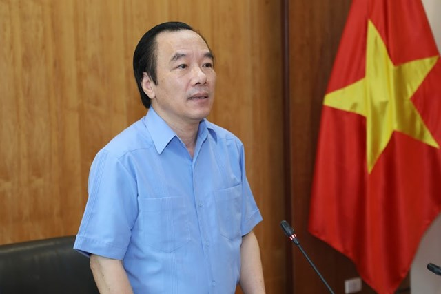 Phó Chủ tịch UBTƯ MTTQ Việt Nam Ngô Sách Thực chủ trì cuộc họp. Ảnh: Quang Vinh.