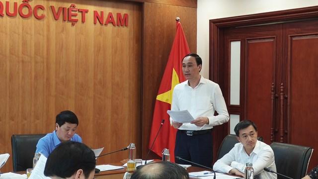 Phó Chủ tịch UBTƯ MTTQ Việt Nam Phùng Khánh Tài phát biểu tại Hội nghị.