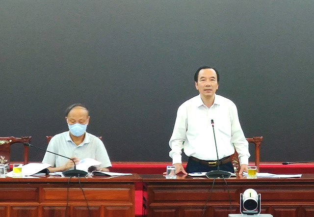 Phó Chủ tịch Ngô Sách Thực phát biểu chủ trì Hội nghị.