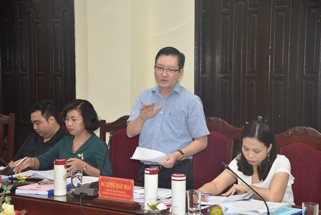 Ông Lương Quốc Đoàn, Phó Chủ tịch Thường trực Hội Nông dân Việt Nam phát biểu tại buổi làm việc.