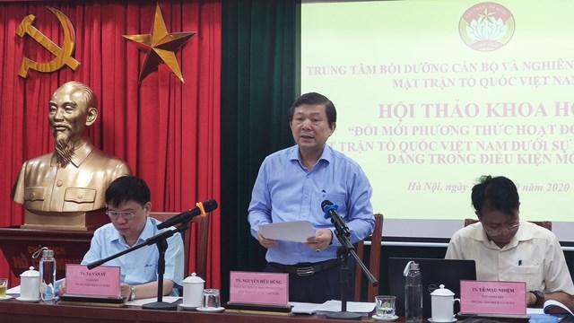 Phó Chủ tịch Nguyễn Hữu Dũng phát biểu chủ trì Hội thảo khoa học.