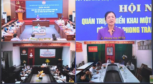Đại biểu tham dự Hội nghị trực tuyến tại các điểm cầu địa phương.