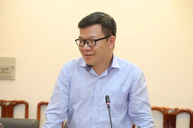 Ông Tống Văn Thanh, Phó Vụ trưởng Vụ Báo chí - Xuất bản, Ban Tuyên giáo Trung ương phát biểu tại cuộc họp. Ảnh: Quang Vinh.