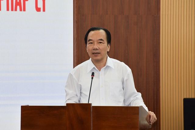 Phó Chủ tịch UBTƯ MTTQ Việt Nam Ngô Sách Thực phát biểu tại Hội nghị.