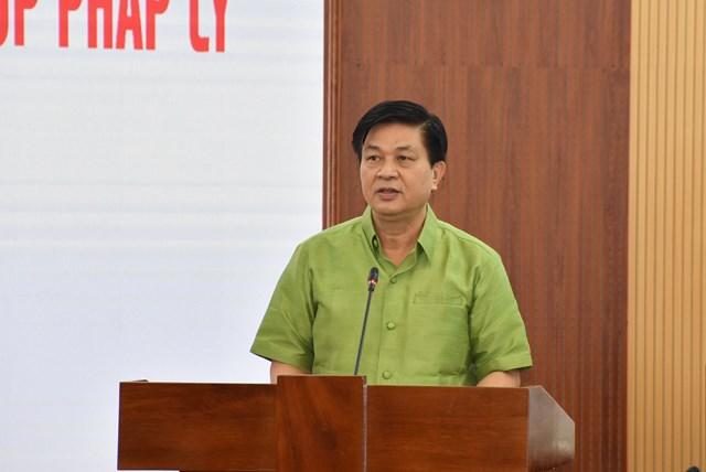 Ông Đỗ Ngọc Thịnh, Chủ tịch Liên đoàn Luật sư Việt Nam phát biểu tại Hội nghị.