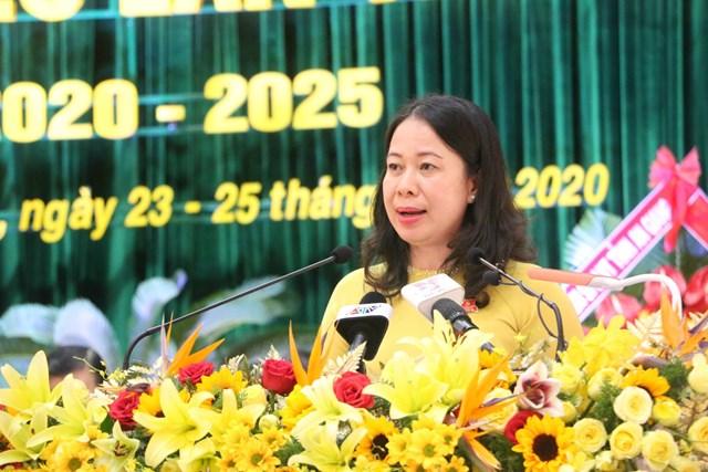 Bà Võ Thị Ánh Xuân phát biểu khai mạc Đại hội.