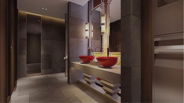Khu vệ sinh công cộng được thiết kế sang trọng (tòa Sapphire).