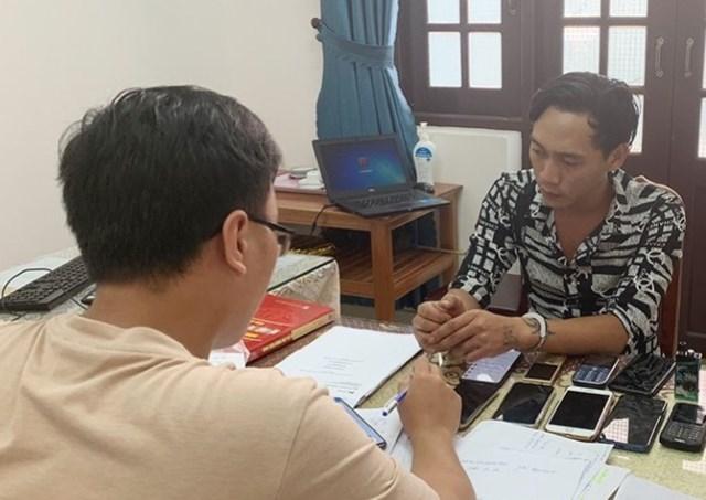 Đối tượng Nguyễn Văn Phúc tại cơ quan CSĐT.