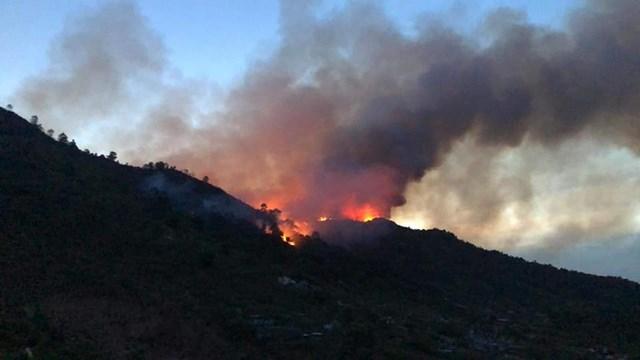 Vụ cháy lan sangđịa bàn 2 huyện Vũ Quang và Hương Sơn.