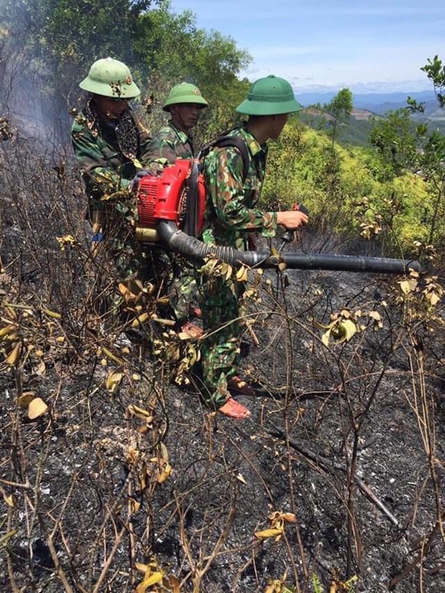 Hơn 500 ngườiđược huyđộngđến hiện trường dập lửa.