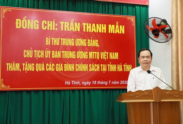 Chủ tịch Trần Thanh Mẫn phát biểu tại buổi triân.
