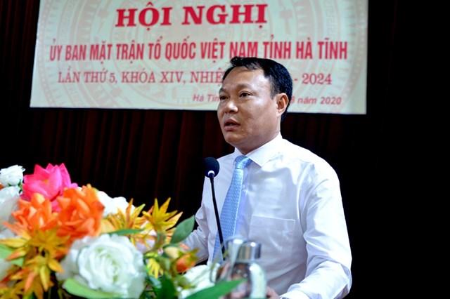 Tân Phó Chủ tịch Ủy ban MTTQ tỉnh Hà Tĩnh Thái Ngọc Hải.